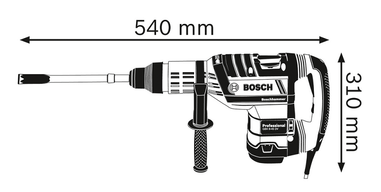 BOSCH GBH 8-45 DV - Rotary Hammer with SDS-max (Professional)