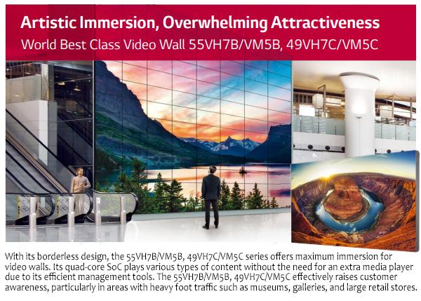 LG 49VM5C 49inch Videowall Display / Signage Monitor