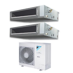 DAIKIN FBQ60EVE x2  (5.0HP) Twin  Inverter Ceiling Concealed  Aircon